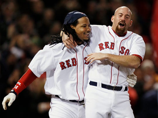 Manny Ramirez, left, had a PED suspension, which is hurting his Hall-of-Fame case.