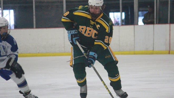 Evan Hoey (28) became Red Bank Catholic's all-time leading scorer on Saturday, Jan. 16.