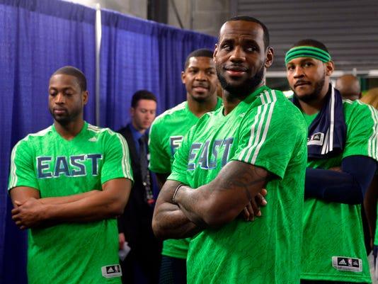 LeBron James, Dwyane Wade, Carmelo Anthony
