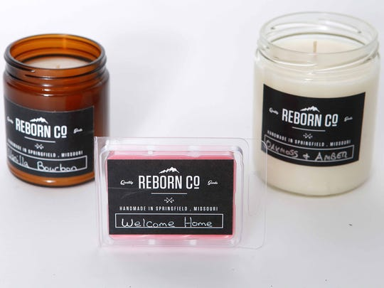 Reborn Co. scented candles