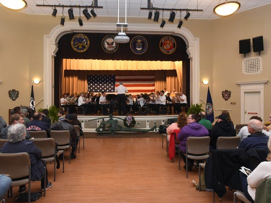 The Great Seal of Ohio Band performs during a Veterans Day program Friday at the Chillicothe VA Campus.