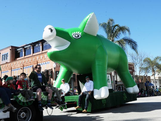The annual St. Patrick's Day parade draws thousands of spectators to Ventura's Main Street. This year's parade is March 16.