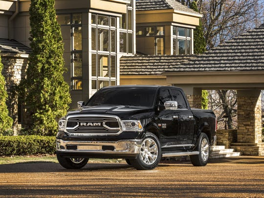 The 2015 Laramie Limited is the second Ram 1500 model to feature a new interlocking grille.