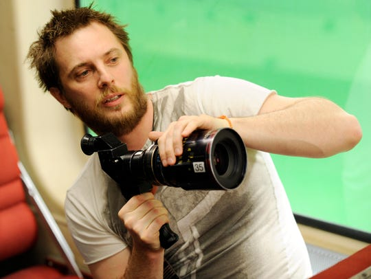 Director Duncan Jones, seen here on the set of 2001's