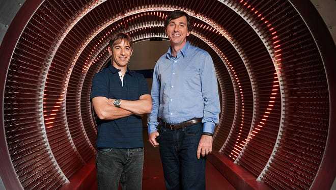Zynga CEO Don Mattrick, right, and founding CEO Mark Pincus.