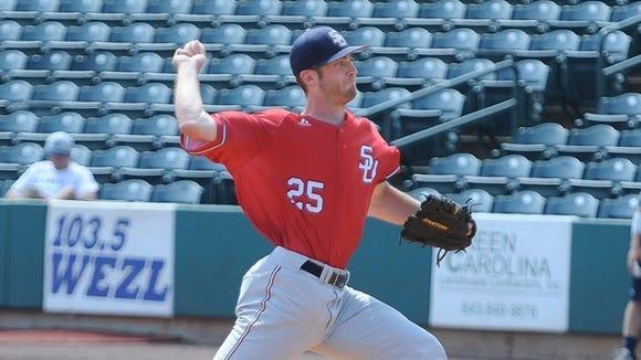 Former Roberson baseball player Alex Ledford is a junior at Samford.