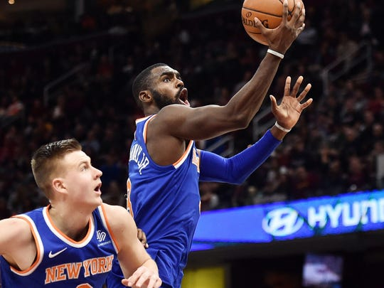 Tim Hardaway Jr. scored a game-high 34 points for the Knicks.