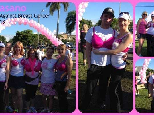Dr. Fasano's staff from The Art of Plastic Surgery at Making Strides Against Breast Cancer.