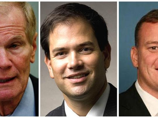 Bill Nelson, Marco Rubio and Tom Rooney.