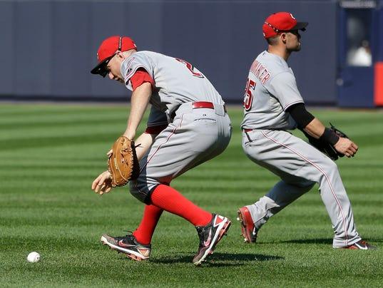 CORRECTION Reds Yankees Baseball