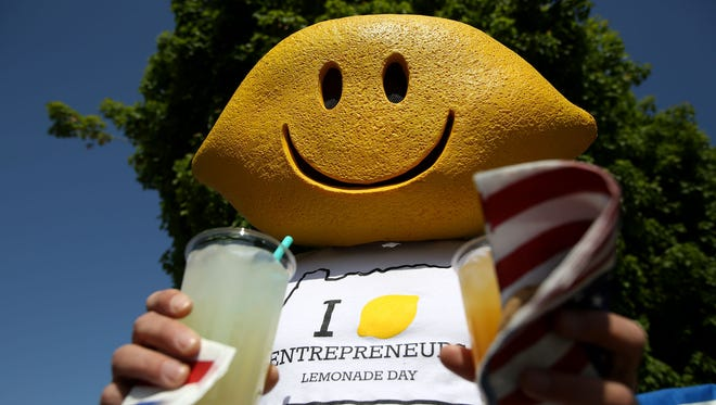 Lemonade Day is a program that encourages and teaches youth how to start and operate their own business. Photo taken on Sunday, May 1, 2015, in Keizer, Ore.