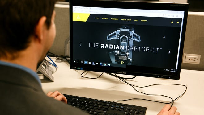 Radian Weapons website on Monday, Nov. 20, 2017.