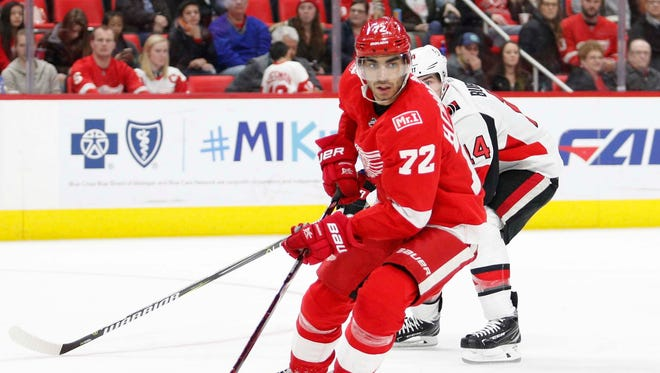 Andreas Athanasiou had 16 goals and 17 assists in 71 games last season.