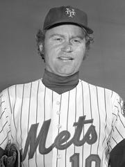 FILE - This is a March 1975 file photo showing New York Mets baseball player Rusty Staub in St. Petersburg, Fla. Staub, who became a huge hit with baseball fans in two countries during an All-Star career that spanned 23 major league seasons, died Thursday, March 29, 2018, in Florida. He was 73.