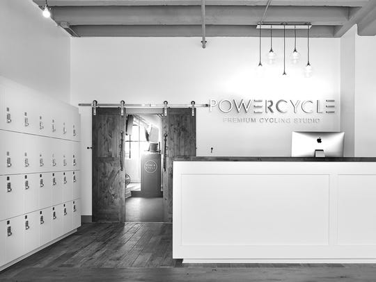 This photo shows the lobby of PowerCycle's Wauwatosa