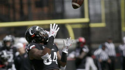 Nate Cole is the top returning receiver for the Cincinnati Bearcats, with 19 catches last year.