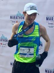 Bryan Morseman won the 43rd annual Tallahassee Marathon
