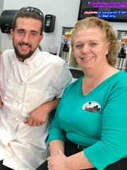 River District Cafe is a family affair. Cousins Natalie Barnes, left, and Kim Blake own the restaurant. Andrew Blake, Kim's son, serves as one of its chefs.