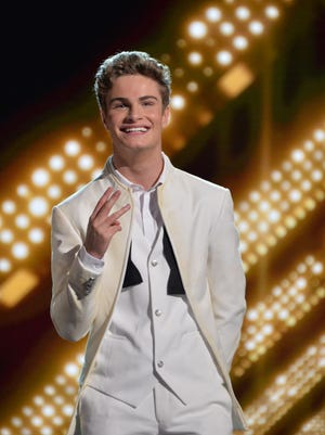 "Brady Tutton smiles for fans on the Aug. 17 episode of ""Boy Band."""