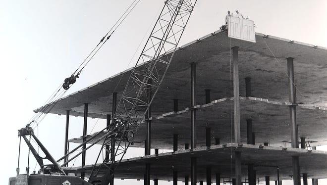 Eisenhower Medical Center under construction in this undated photo.