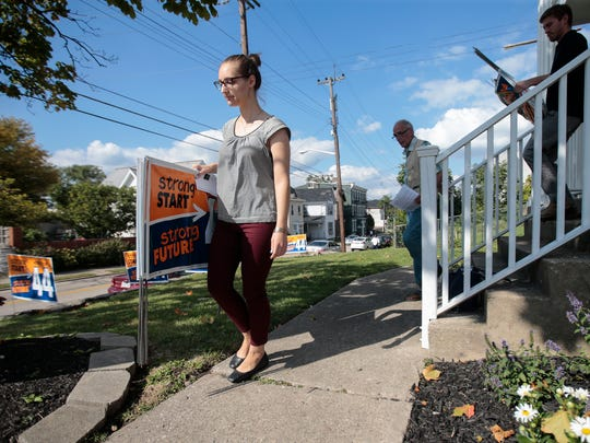 Hope Johnston-Holm of Pleasant Ridge gathers campaign