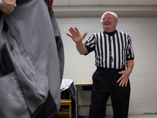 Longtime referee Billy T. Haynes of Henderson, Ky.,
