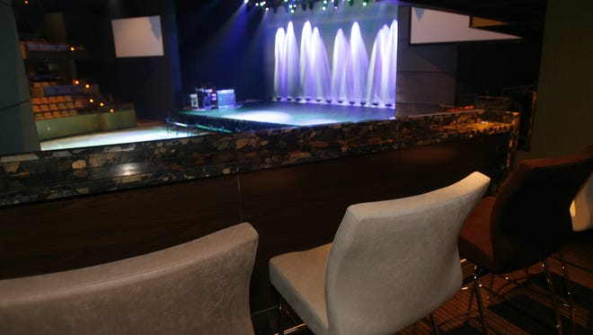The Show at Agua Caliente Casino Resort Spa features luxury boxes with the stage in background.