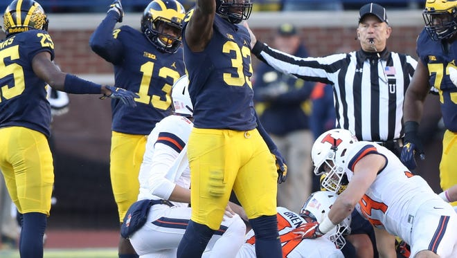 32. New Orleans Saints: DE Taco Charlton, Michigan – He's not as tooled-up as some of the other first-round defensive ends, but Charlton would be a Day 1 starter at left end