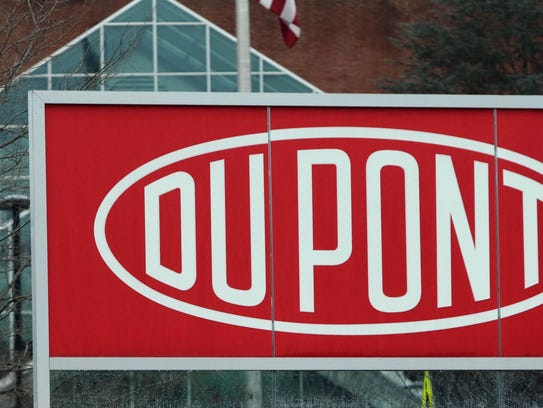 The DuPont headquarters at Chestnut Run Plaza is shown