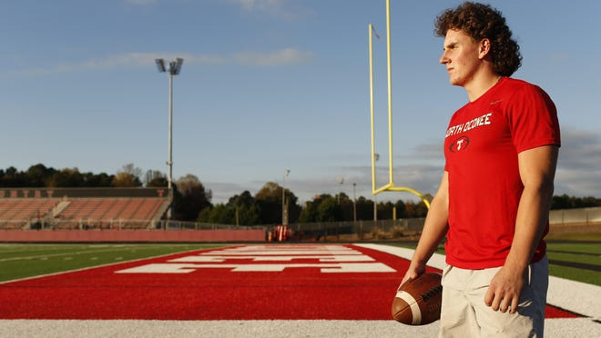 North Oconee senior Carter Freeman recently suffered his third knee injury of his high school career. He's now focused on his education to succeed.