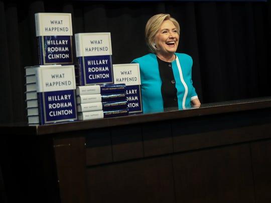Former U.S. Secretary of State Hillary Clinton acknowledges