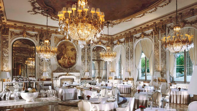 2. Restaurant Le Meurice, Paris: Famed chef Alain Ducasse makes our top 10 list twice this year. At Le Meurice in Paris, he knows how to put together a costly menu. His collection menu at Le Meurice costs a cool $509 (€380) per person for dinner, and his lunch menu will cost you $174 (€130) - and those prices are before beverages, tax and tip. While the food is outstanding, the ambience is arguably just as fantastic, as it was inspired by the Salon de la Paix at the Château de Versailles.