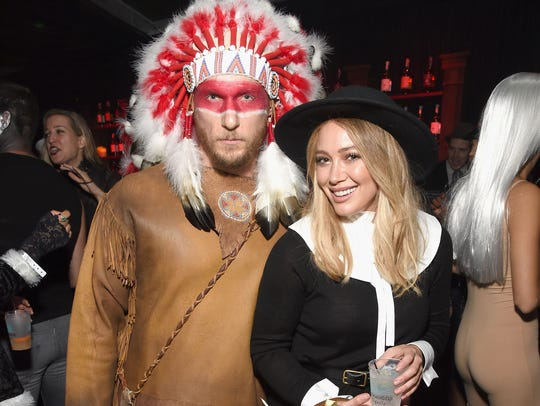 Hilary Duff is apologizing for a couple's costume she