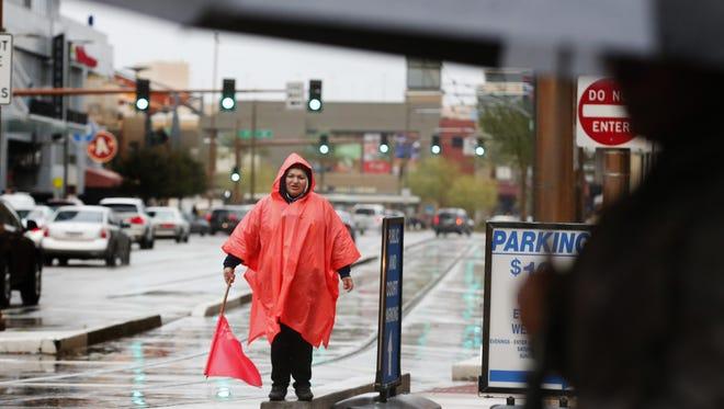 The Phoenix area has a 100 percent chance of rain Tuesday night.