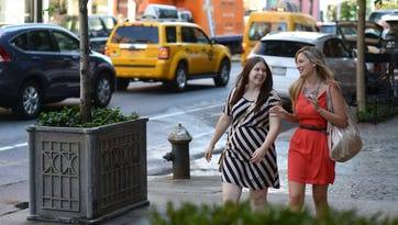 "Ashley Blanchard, left, hired Jen Glantz to be a ""personal attendant"" for her wedding."
