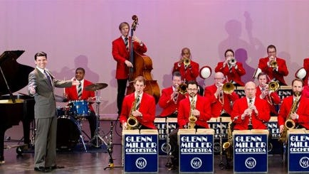 The Glenn Miller Orchestra performs Saturday, March 4 at the Performing Arts Center on the campus of Texas A&M University-Corpus Christi.