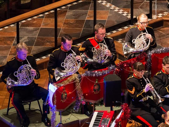 The Royal Marines Band will appear in January at the