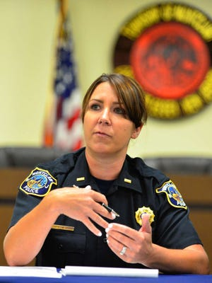 Lt. Stephanie Egnezzo says it is the opinion of the Montclair Police Traffic Bureau that the township could not sustain a fifth school in the Chestnut Street area.Montclair Board of Education member Laura Herzog reminded residents that no municipal body has jurisdiction over the decision to approve or deny the Montclair Charter School's application.