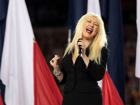 Super Bowl XLV in Texas: Christina Aguilera