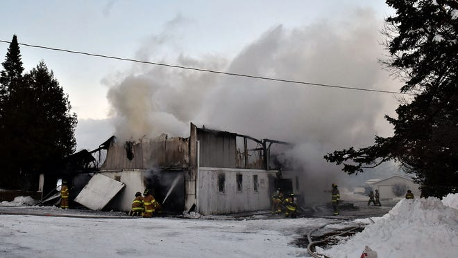 Barn/storage facility on Egg Harbor Road in Sturgeon Bay burned Thursday.