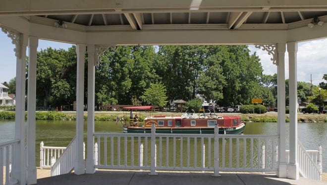 Concerts will be held at this gazebo in Spencerport.