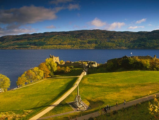 Perhaps the most famous mythical creature, Nessie, is believed to live in Scotland's mysterious Loch Ness.