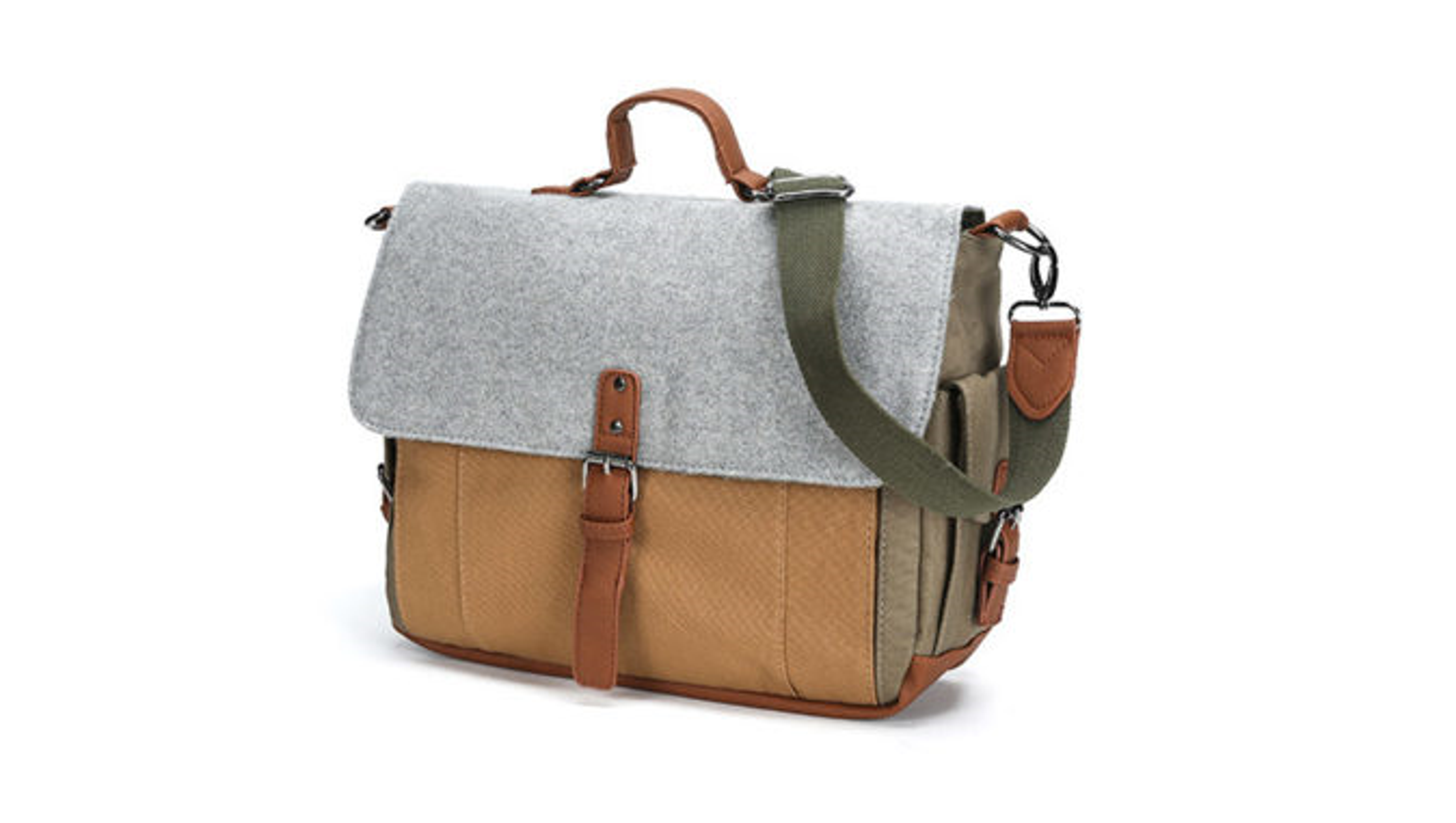 Deals: The Perfect Canvas & Wool Messenger Bag