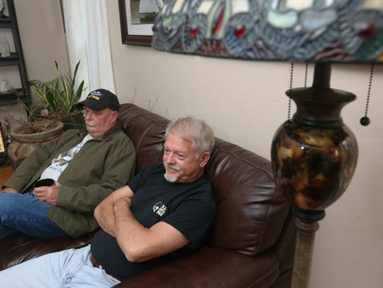 Vietnam War Army veterans Dave Mrotek (left) and Ed