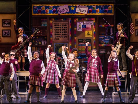 "The national touring cast of ""School of Rock."""