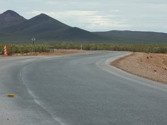 Doña Ana County officials say a project to pave a southern road to Spaceport America from Interstate 25 should be entirely finished in August. The route, seen here Thursday, July 12, 2018, is paved. But some minor details remain, including striping and signage.