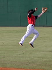 Jackson's Tyler Smith catches a pop fly as the Generals