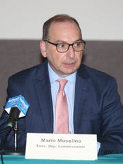 Mario Musolino, Executive Deputy Commissioner, New York State Department of Labor speaks during an  Indian Point forum on workforce transition at Desmond-Fish Library in Garrison on Friday, November 3, 2017.