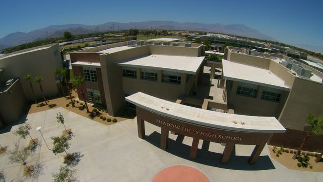 A bird's eye view of Shadow Hills High School in Indio, which will offer the AP Capstone diploma program next school year.