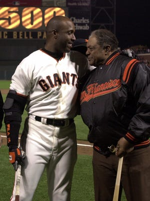 Barry Bonds hopes to join godfather Willie Mays in the Hall of Fame, but PED accusations that did not deter Mays' candidacy hinder Bonds'.